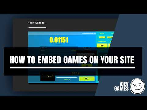 How To Embed Games Onto Your Website
