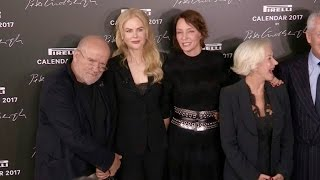 Peter Lindbergh, Nicole Kidman, Uma Thurman and Helen Mirren at Pirelli Photocall