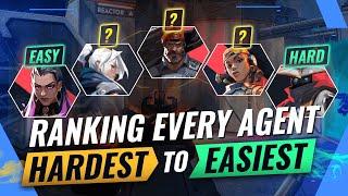 Ranking EVERY AGENT Fŗom HARDEST To EASIEST - Valorant