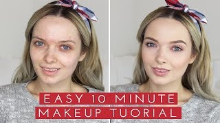 Easy 10 Minute Makeup // MyPaleSkin