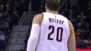 Timofey Mozgov Hits First Three as a Cavalier
