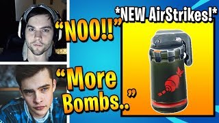 Streamers React to the New Airstrike Grenade Coming to Fortnite!