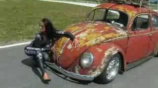 VW Garbus rat (rost) style - beetle with porsche engine