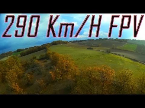 Fastest FPV Plane France Record - 290 Kph GPS - World First HD