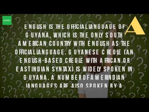 Why Is English Guyana Official Language?