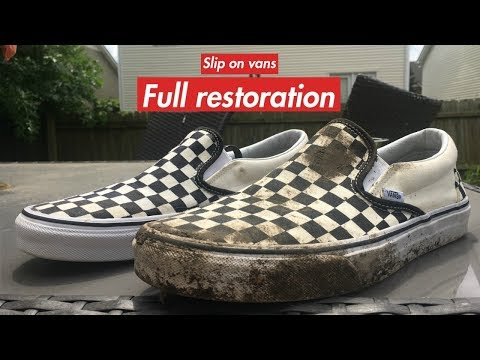 Checkered Slip-on Vans (RESTORATION)