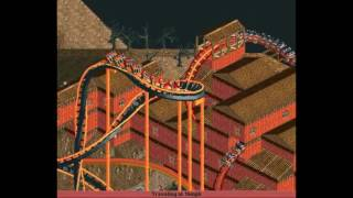 RollerCoaster Tycoon 2 - Supervolcano: Hyper-Twister RollerCoaster