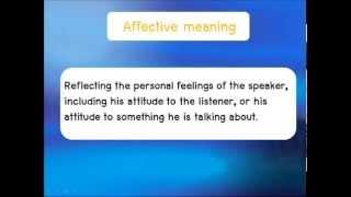 Semantics    Types of meaning