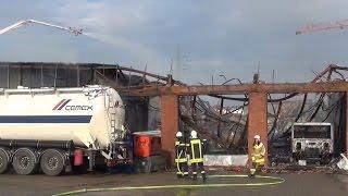 NRWspot.de | Castrop-Rauxel – Verletzte bei Großbrand in Tankreinigungsbetrieb