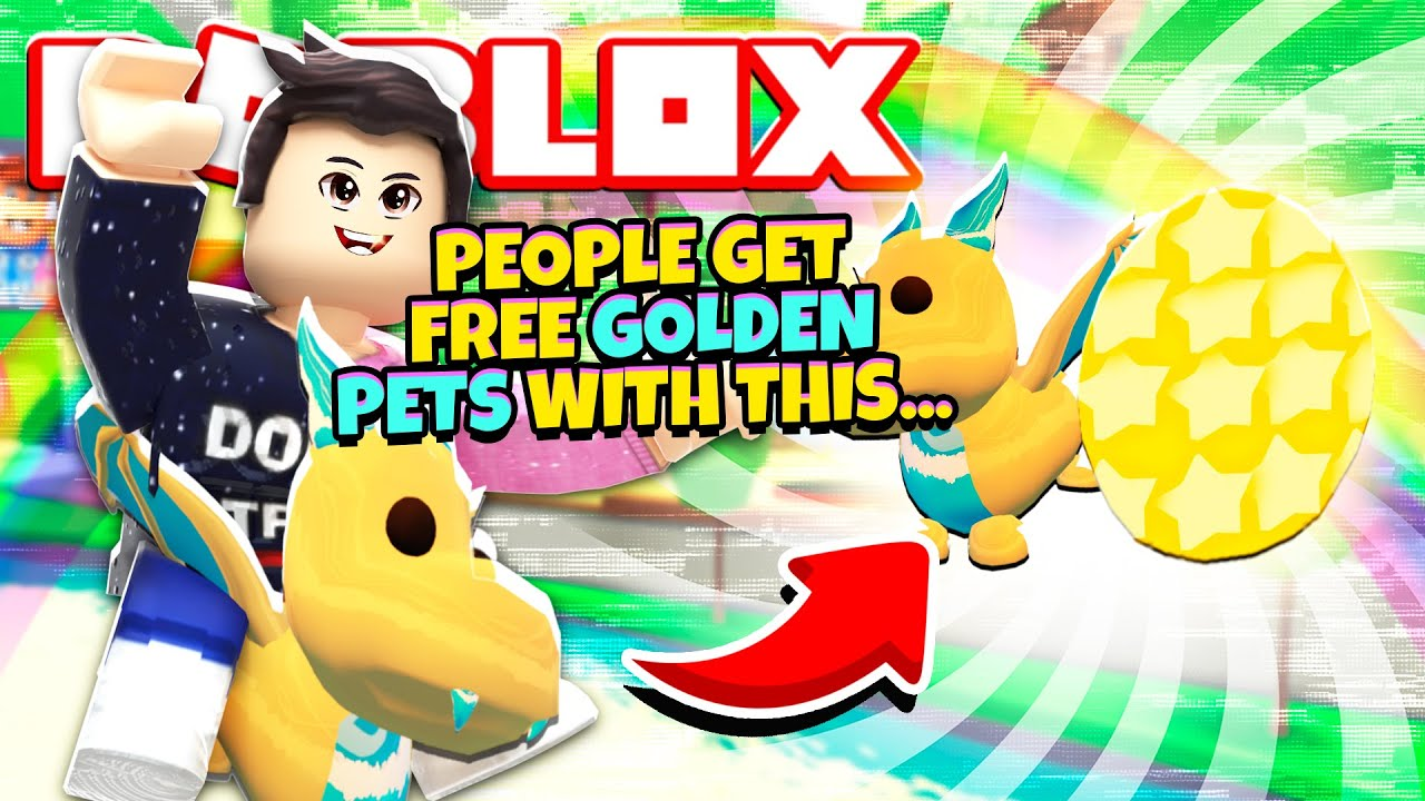 People Use This Free Trick For Golden Pets In Adopt Me New Adopt Me Golden Pets Update Roblox Youtube