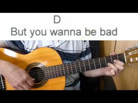 Guitar Accompaniment - Beat It -  Michael Jackson  - Easy Guitar (Including lyrics and chords)