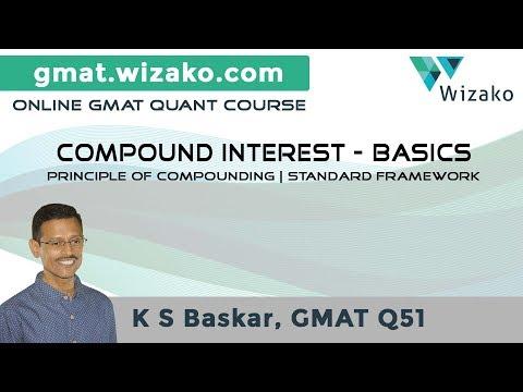 GMAT Quant Lesson Video #2 | Compound Interest Basics & Formula | 600 Level Practice