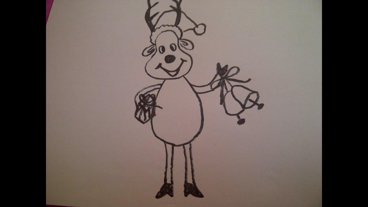 Wie Zeichnet Man Ein Rentier Weihnachtskarten Selber Malen
