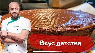 як зробити торт з вафельних коржів