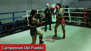 🥊Nadia Villalba Vs Laura Pignanelli - MUAY THAI - SEMI PRO - Campeones Del Pueblo