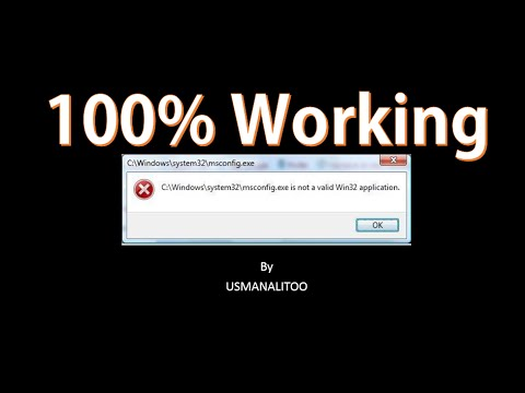 [100%] How to Fix.Exe Not a Valid Win32 Application In all windows