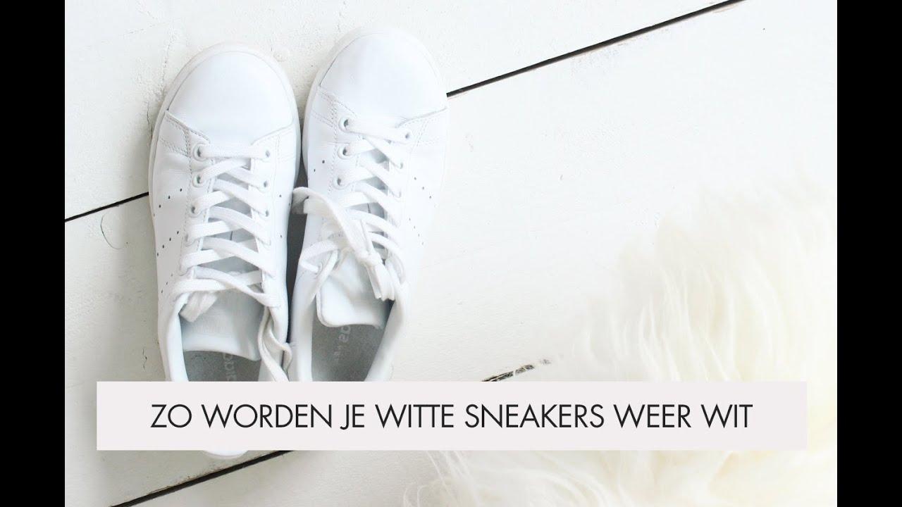 witte vans weer wit krijgen