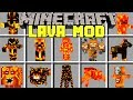 Minecraft LAVA MOBS MOD / SURVIVE THE LAVA DIMENSION FROM SCARY MONSTERS! / Modded Mini-Game
