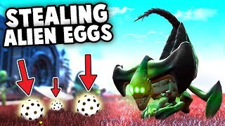 EASY EARLY GAME MONEY! Battle Xenomorph ALIENS for their EGGS! (No Man's Sky Multiplayer Gameplay)