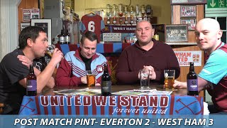 Post Match Pint | Everton 2 - West Ham 3