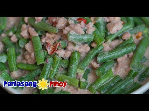 Gising Gising Recipe | Spicy Green Beans with Ground in Coconut Milk |  Panlasang Pinoy