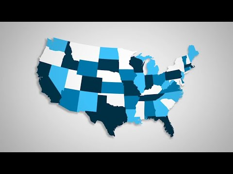 USA States Combine Motion Graphics