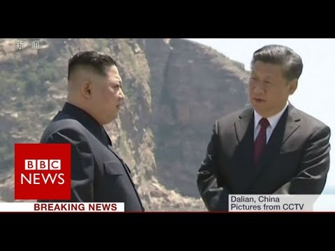 North Korea's leader Kim Jong-Un visits China - BBC News