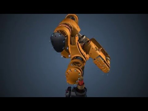 Articulated robot arm gif