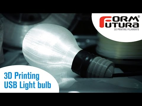 3D Printing: USB Light bulb with FormFutura HDglass