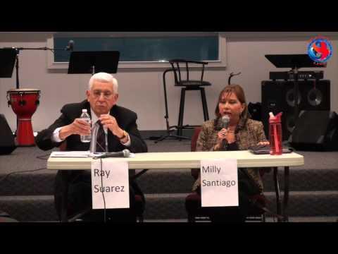 Ray Suarez & Milly Santiago. March Debate