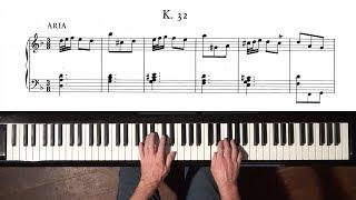 Scarlatti Sonata K.32 - Paul Barton FEURICH piano