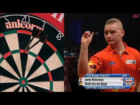 2017 European Darts Trophy Round 1 Richardson vs van den Bergh