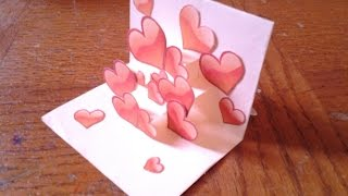Repeat youtube video Easy and Simple Pop up Card Tutorial for beginners #2