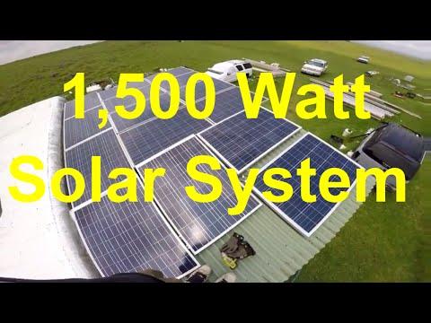 Off The Grid Living - 1,500 Watt Solar System - Upgrade - 12v System 80 Amps