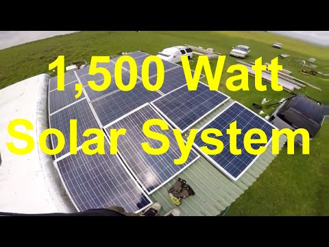 Off The Grid Living – 1,500 Watt Solar System – Upgrade – 12v System 80 Amps