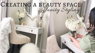 NEW VANITY | STYLING TIPS | A LUXE BEAUTY SPACE