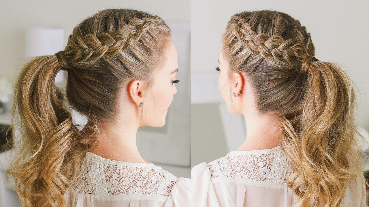 double dutch braid ponytail   missy sue