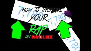 "how to increase your ""RAP"" in roblox [ADVICE]"