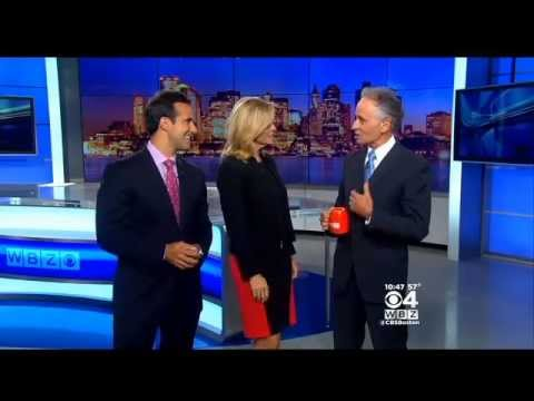 Meteorologist Barry Burbank Holds Coffee Cup Upside Down On Live Wbz