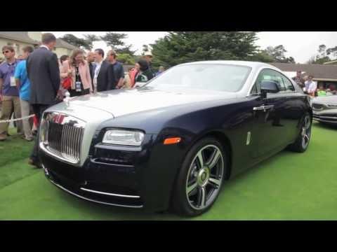 2014 Rolls-Royce Wraith  - Up Close @ Pebble Beach - CAR and DRIVER