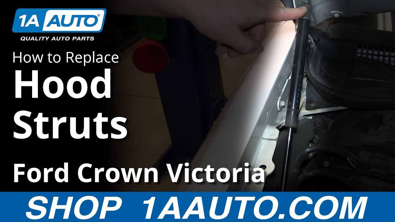 How To Replace Hood Lift Support 98 11 Ford Crown Victoria
