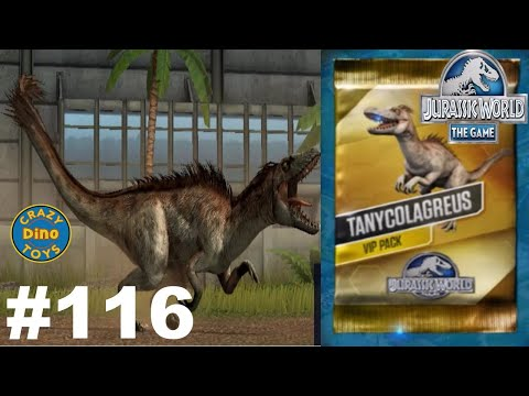 New Jurassic World The Game VIP Battles Episode 116 Tanycolagreus Vs Indominus Dinosaurs WD Toys