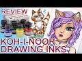KOH-I-NOOR Drawing Ink Review and Test Painting