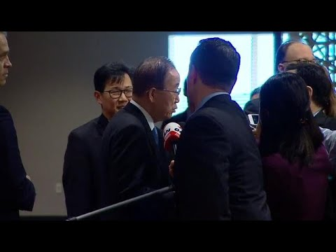 Ban Ki-moon (Former UN Secretary-General)  - Security Council Media Stakeout (21 February 2018)