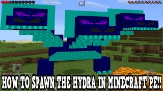 minecraft pe how to spawn the hydra minecraft pocket edition
