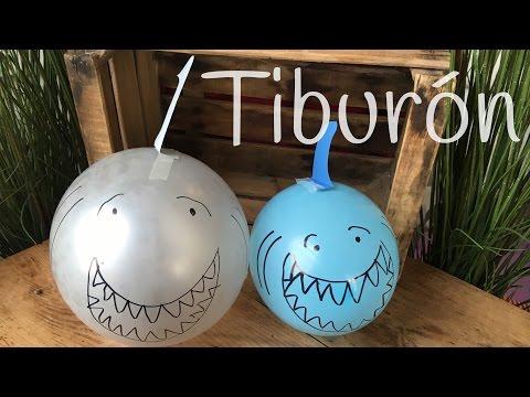 Globo en forma de tiburón, ideal para fiestas infantiles
