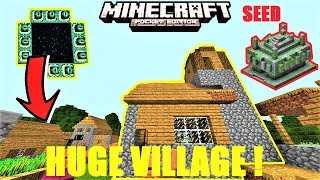 Minecraft PE - Huge DOUBLE village at spawn ! Stronghold & Jungle temple | MCPE 1.1.4