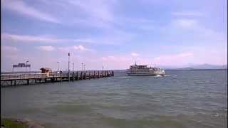 Chiemsee-Schiffsverkehr auf der Fraueninsel