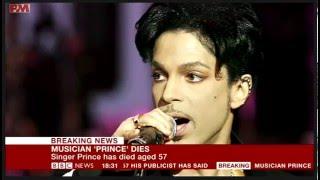 Prince Dies - BBC Breaking News 21/4/16
