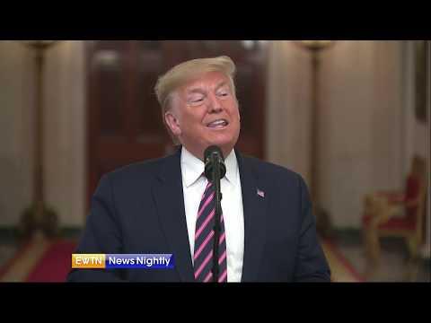 President Trump slams political rivals, touts faith-based initiatives at National Prayer Breakfast